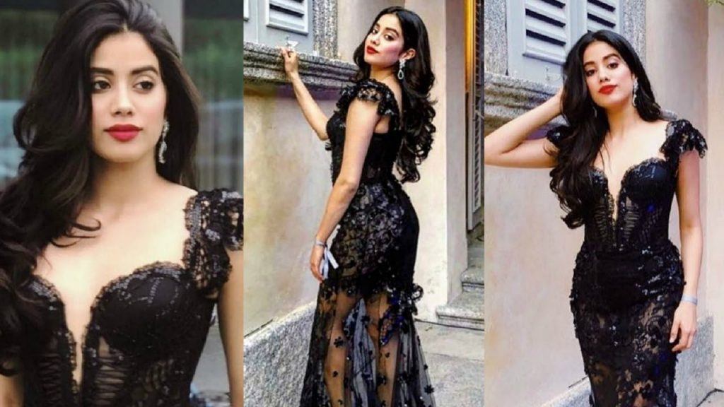 black-dress-janvi-kapoor-parents-talks
