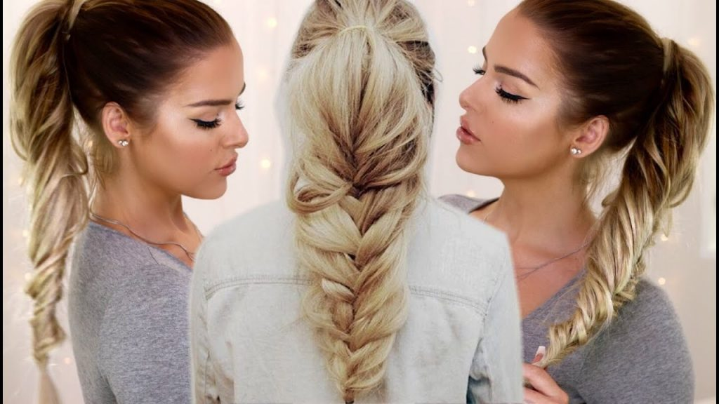 Fish braided Ponytail