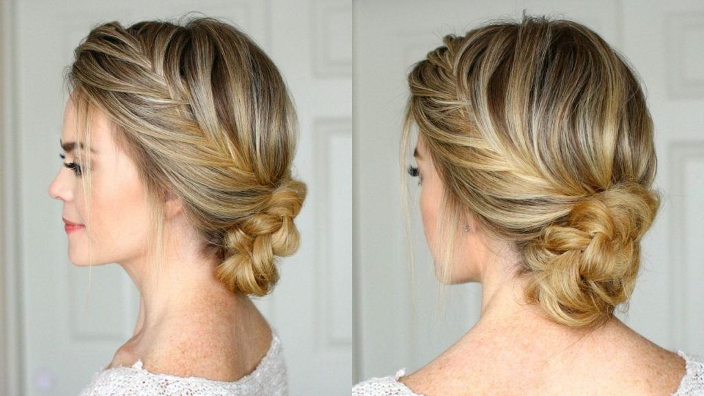 Side braid with double weaving