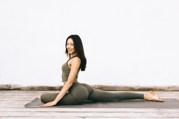 attractive-model-yoga-pose-indian-parents-talks