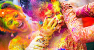 Holi Indian Kids Parents