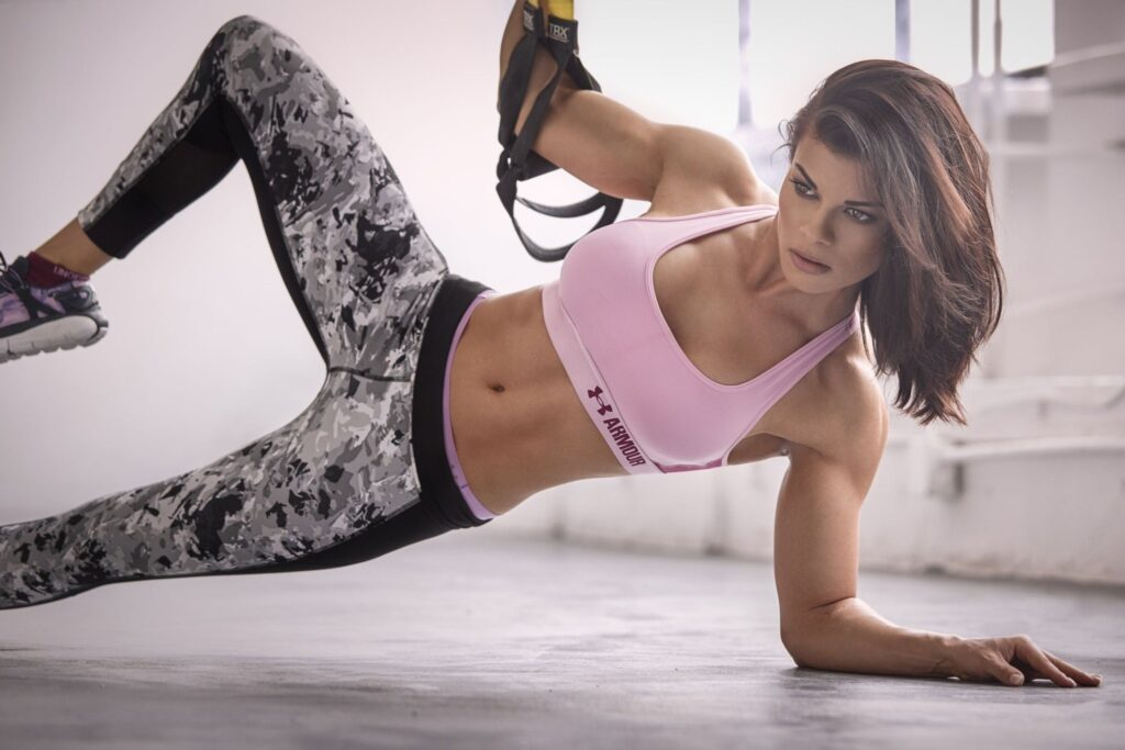 Workout hot girl fitness zym