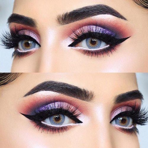 almond-eyes-makeup-ideas-black-eyeliner-smokey-purple